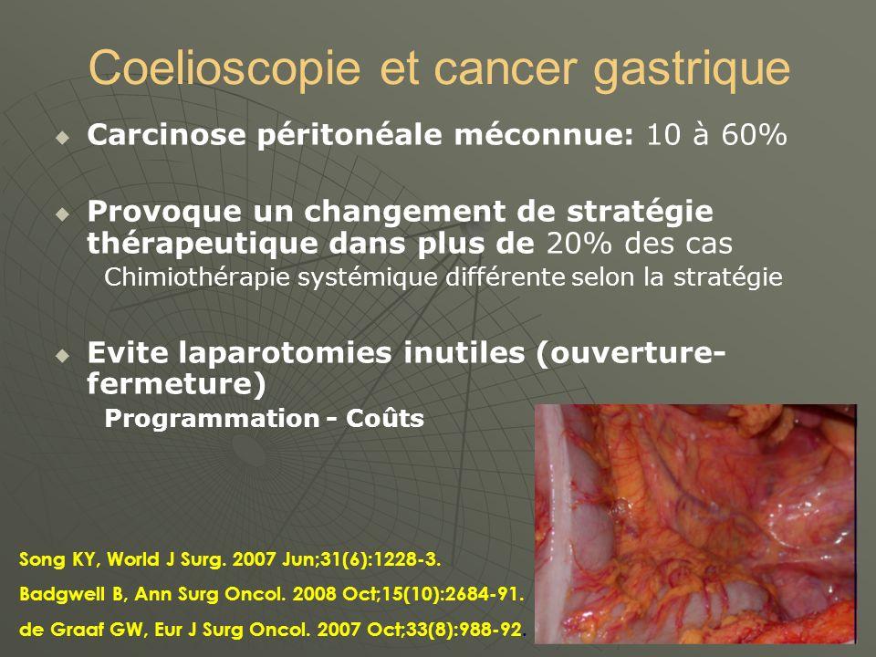 Coelioscopie et cancer gastrique