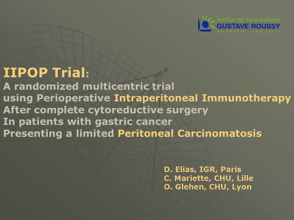 IIPOP Trial: A randomized multicentric trial