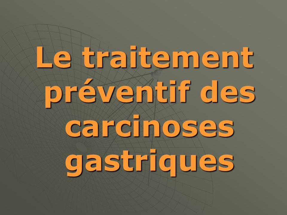 Le traitement préventif des carcinoses gastriques