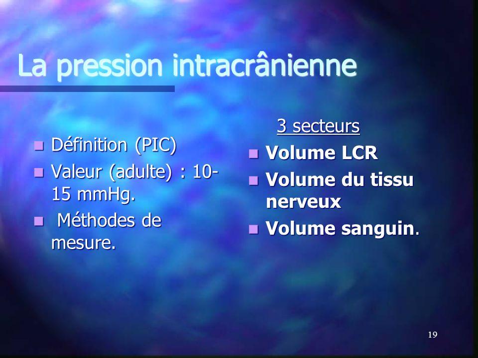 La pression intracrânienne