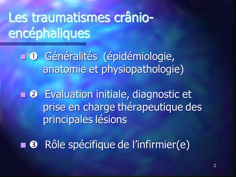 Les traumatismes crânio-encéphaliques
