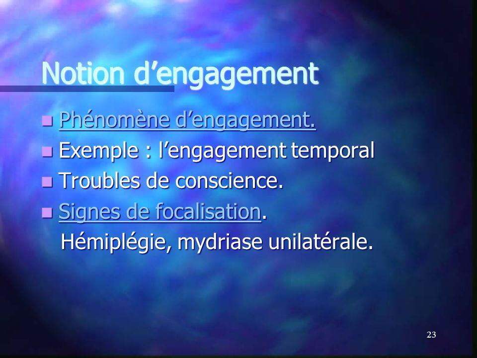 Notion d'engagement Phénomène d'engagement.