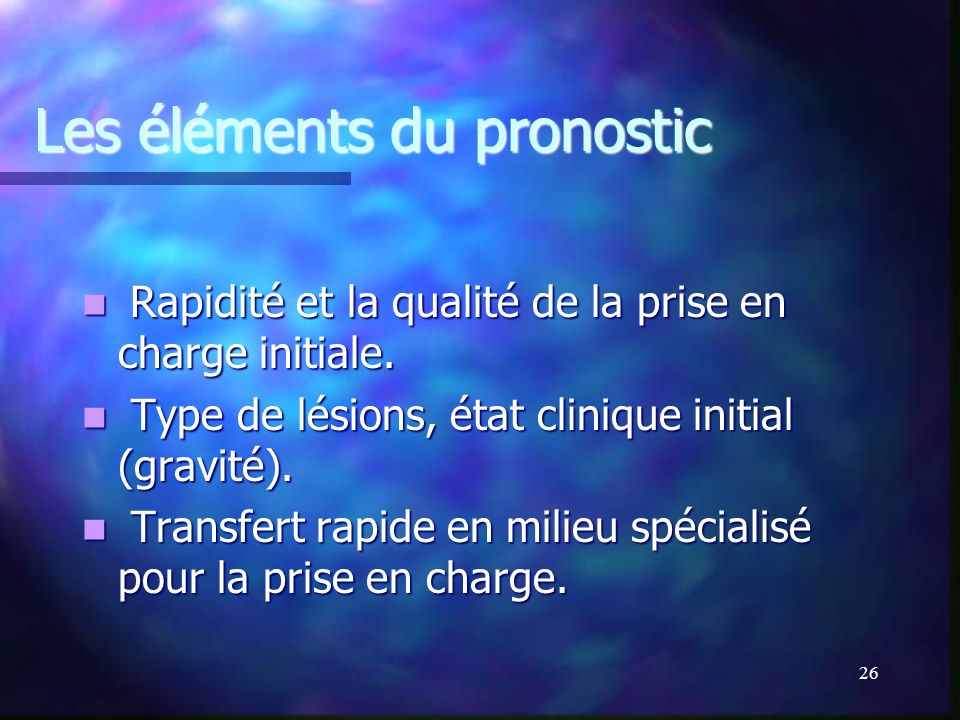 Les éléments du pronostic