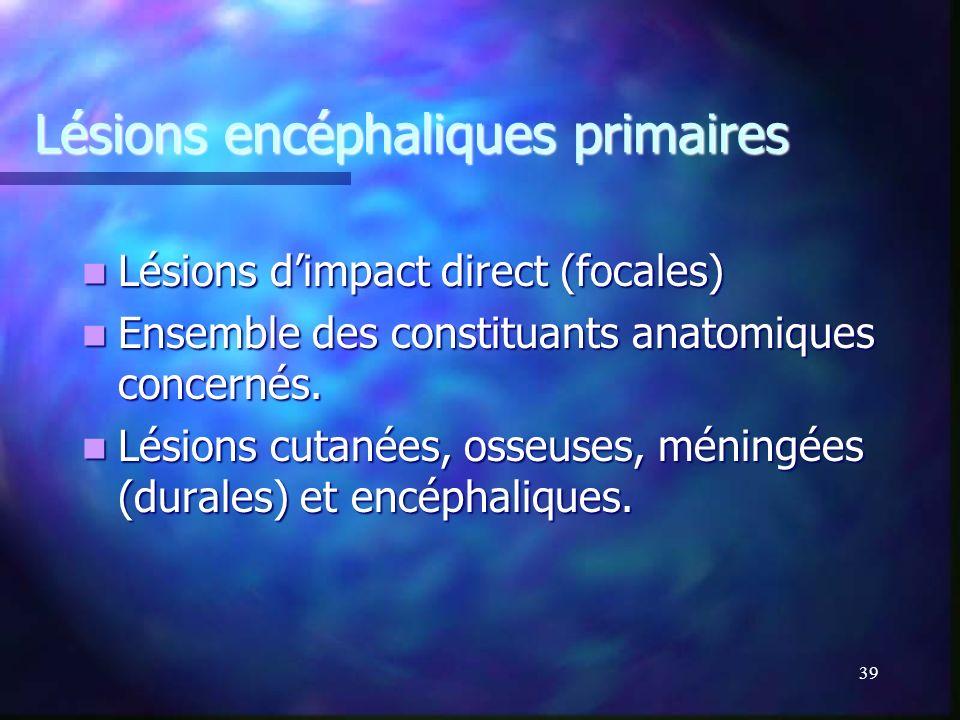 Lésions encéphaliques primaires