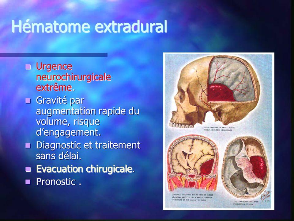 Hématome extradural Urgence neurochirurgicale extrême.