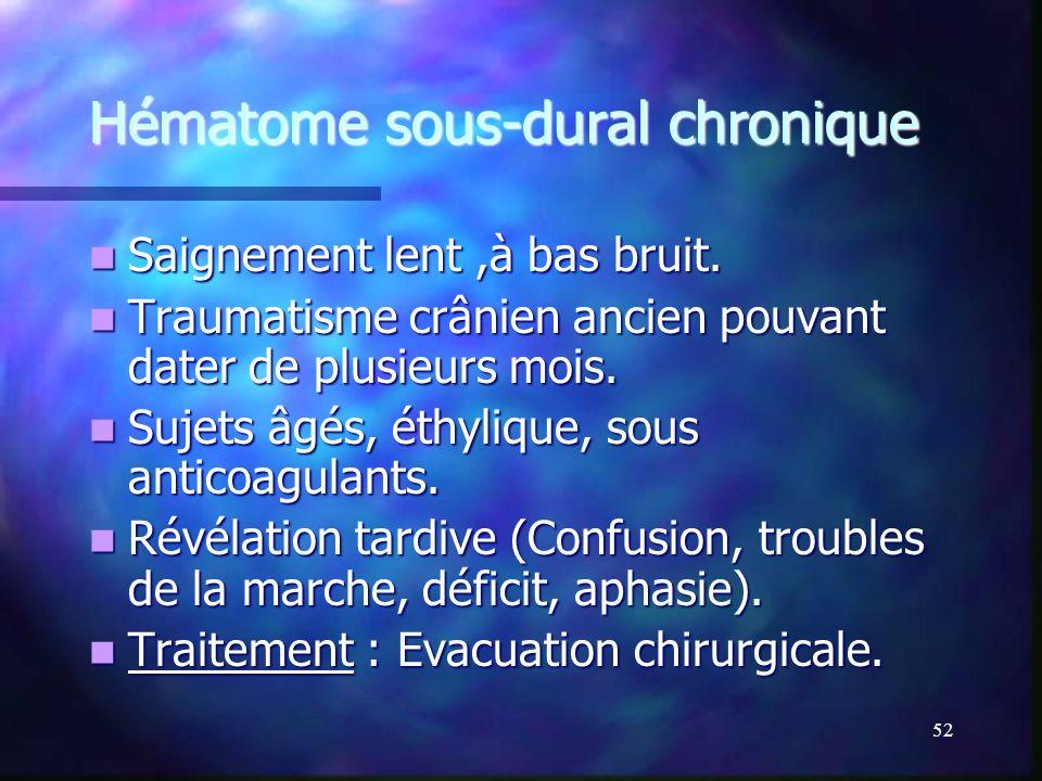 Hématome sous-dural chronique
