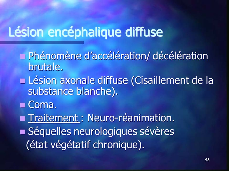 Lésion encéphalique diffuse