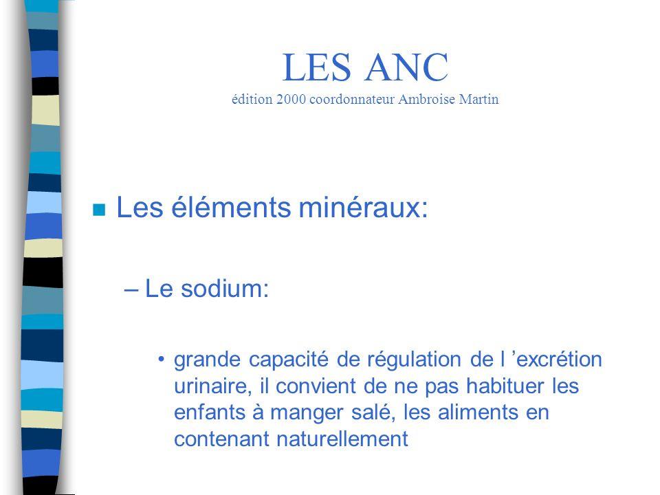 LES ANC édition 2000 coordonnateur Ambroise Martin