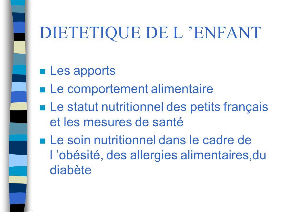 DIETETIQUE DE L 'ENFANT