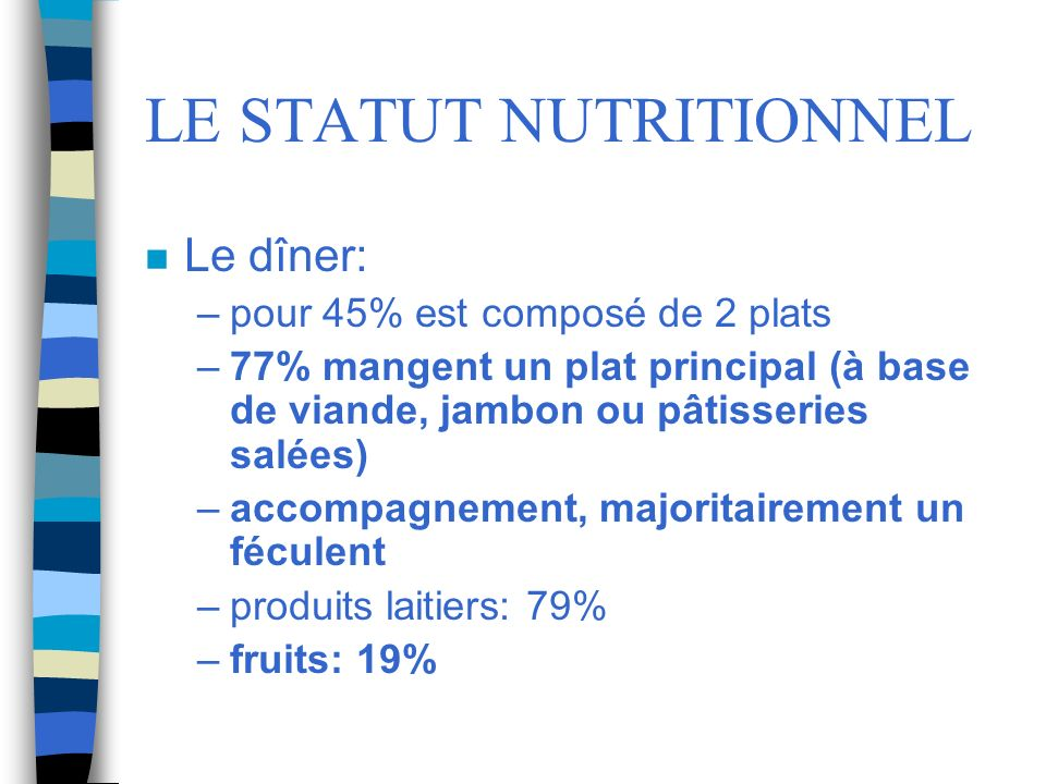 LE STATUT NUTRITIONNEL
