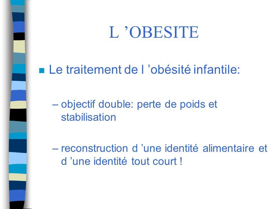 L 'OBESITE Le traitement de l 'obésité infantile: