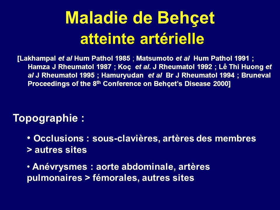 Maladie de Behçet atteinte artérielle
