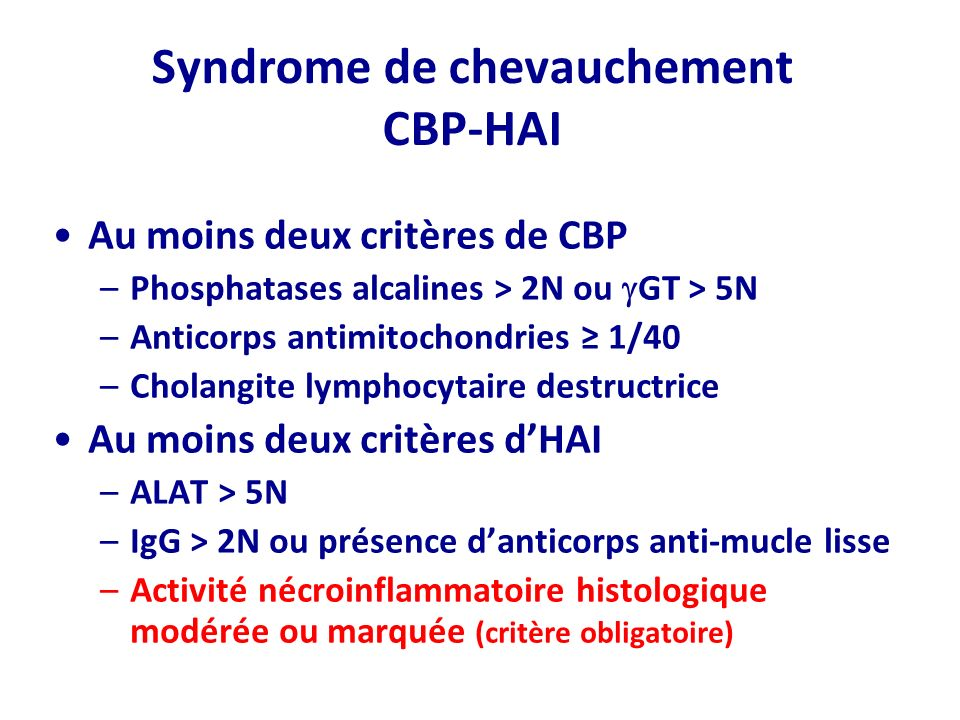 Syndrome de chevauchement CBP-HAI