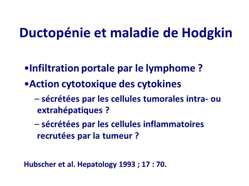 Ductopénie et maladie de Hodgkin