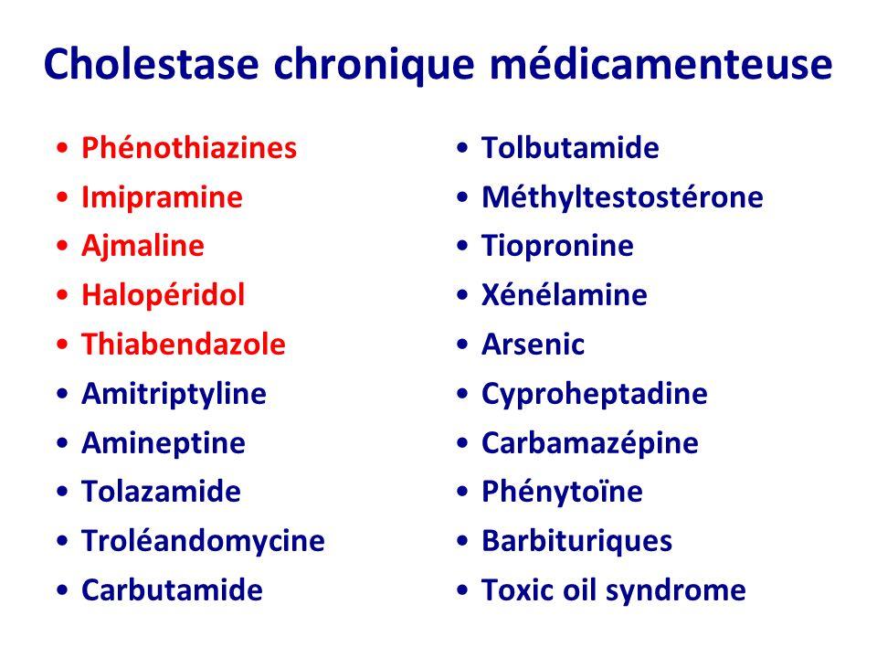 Cholestase chronique médicamenteuse