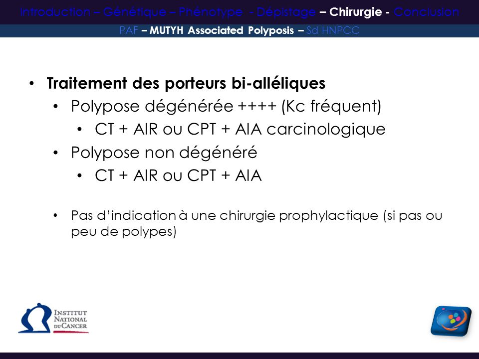 PAF – MUTYH Associated Polyposis – Sd HNPCC