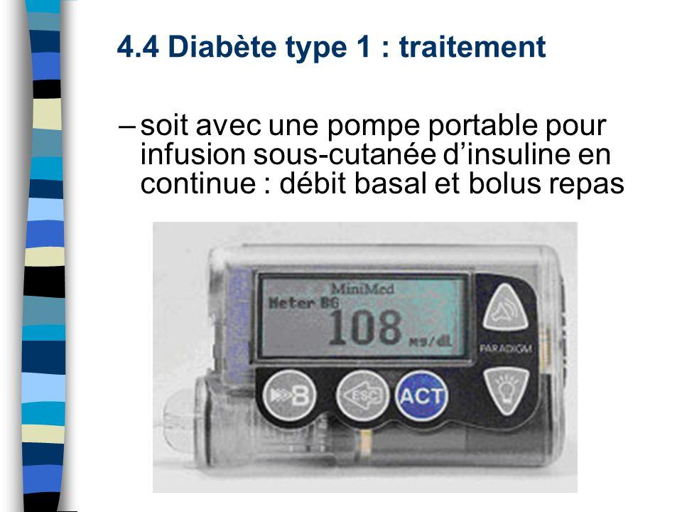 4.4 Diabète type 1 : traitement