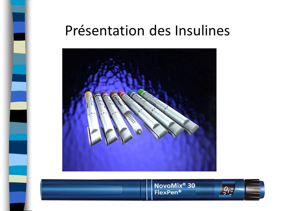 Présentation des Insulines