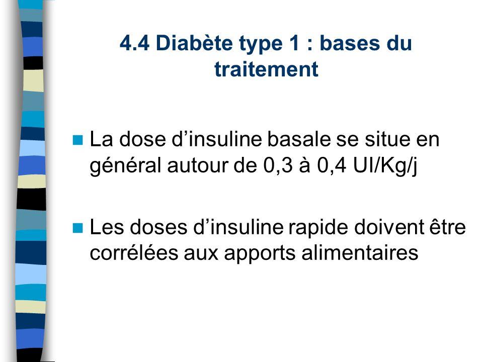 4.4 Diabète type 1 : bases du traitement