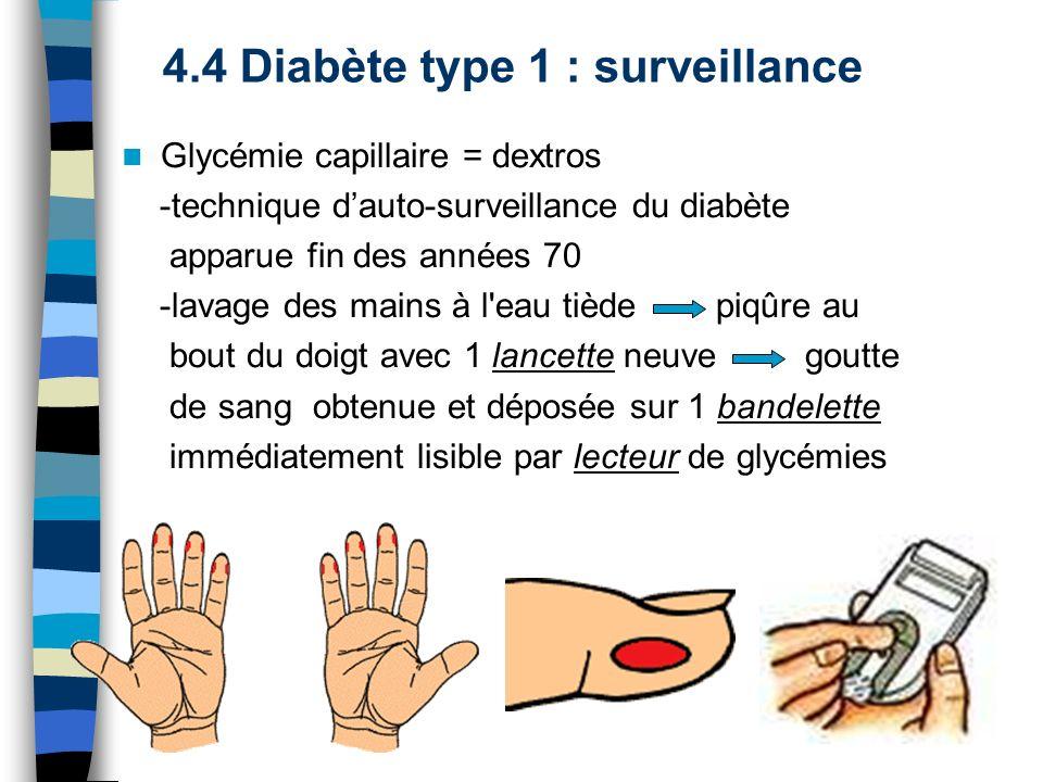 4.4 Diabète type 1 : surveillance