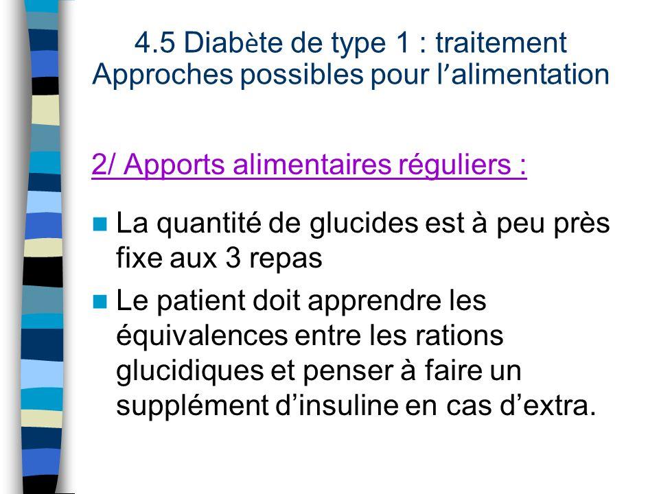 4.5 Diabète de type 1 : traitement