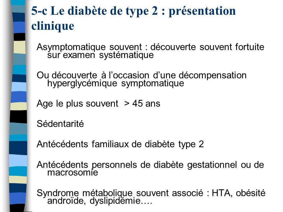 5-c Le diabète de type 2 : présentation clinique