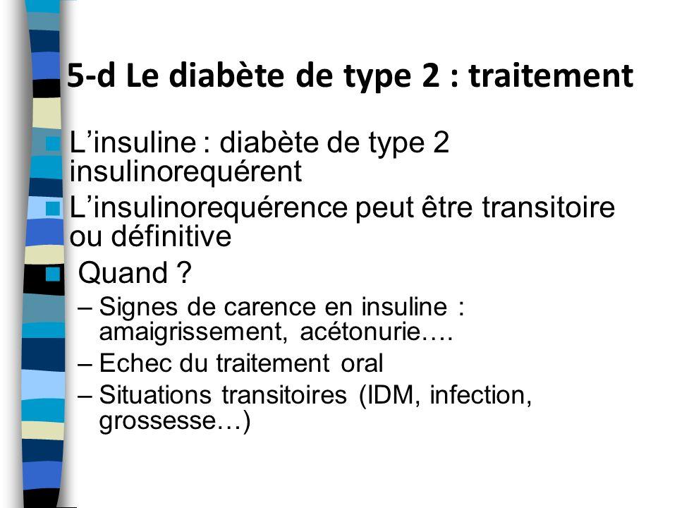 5-d Le diabète de type 2 : traitement