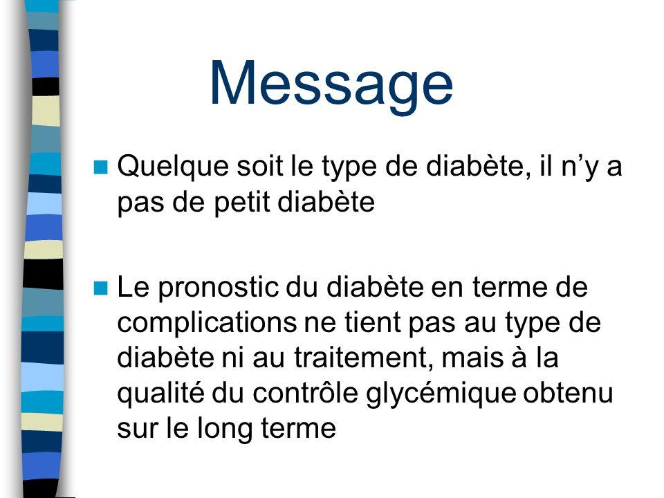 Message Quelque soit le type de diabète, il n'y a pas de petit diabète