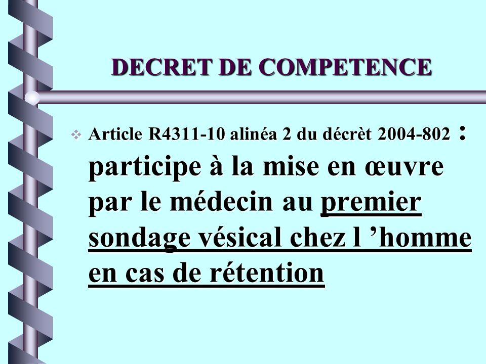 DECRET DE COMPETENCE