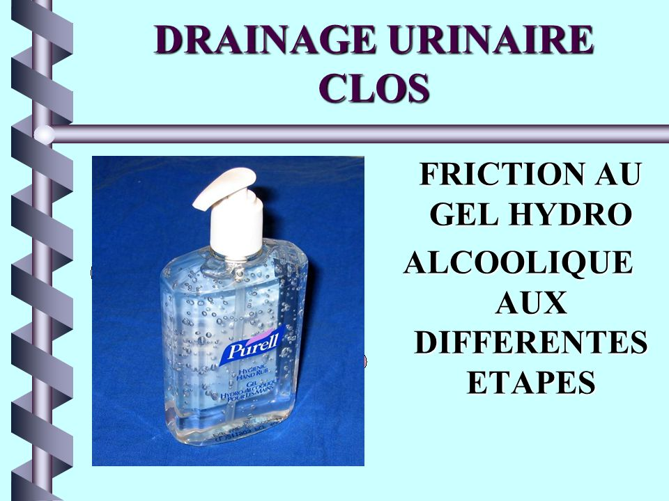 DRAINAGE URINAIRE CLOS