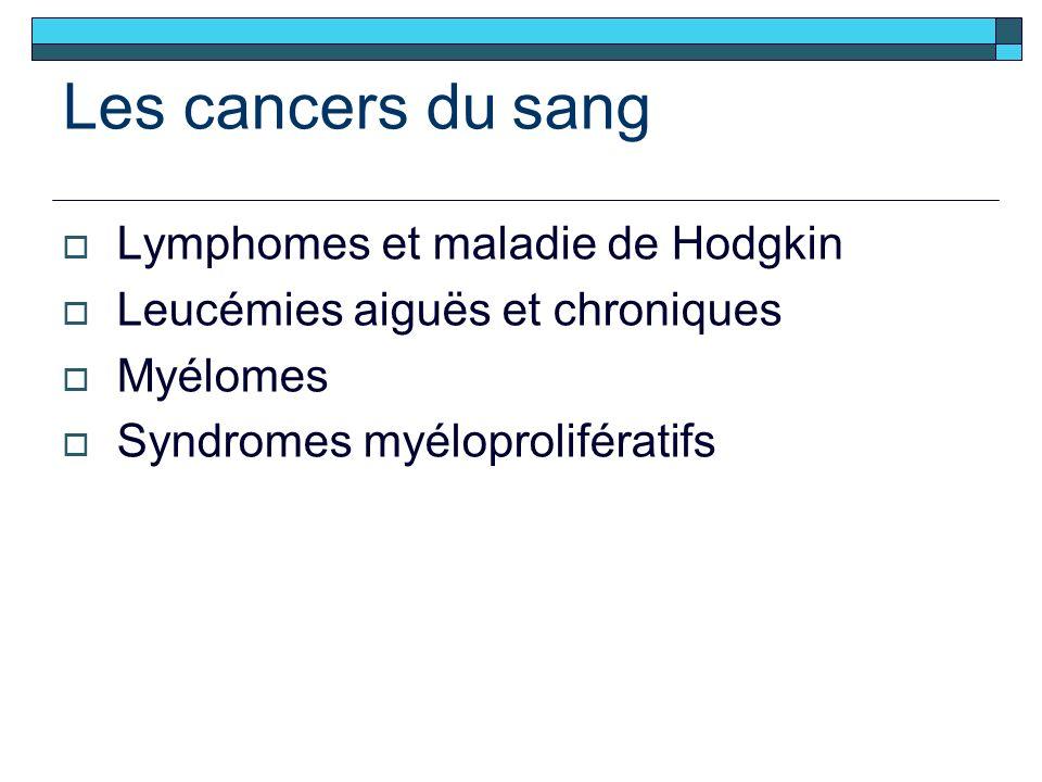 Les cancers du sang Lymphomes et maladie de Hodgkin