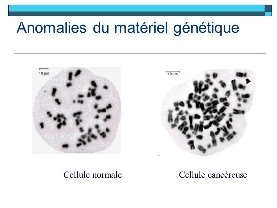 Anomalies du matériel génétique