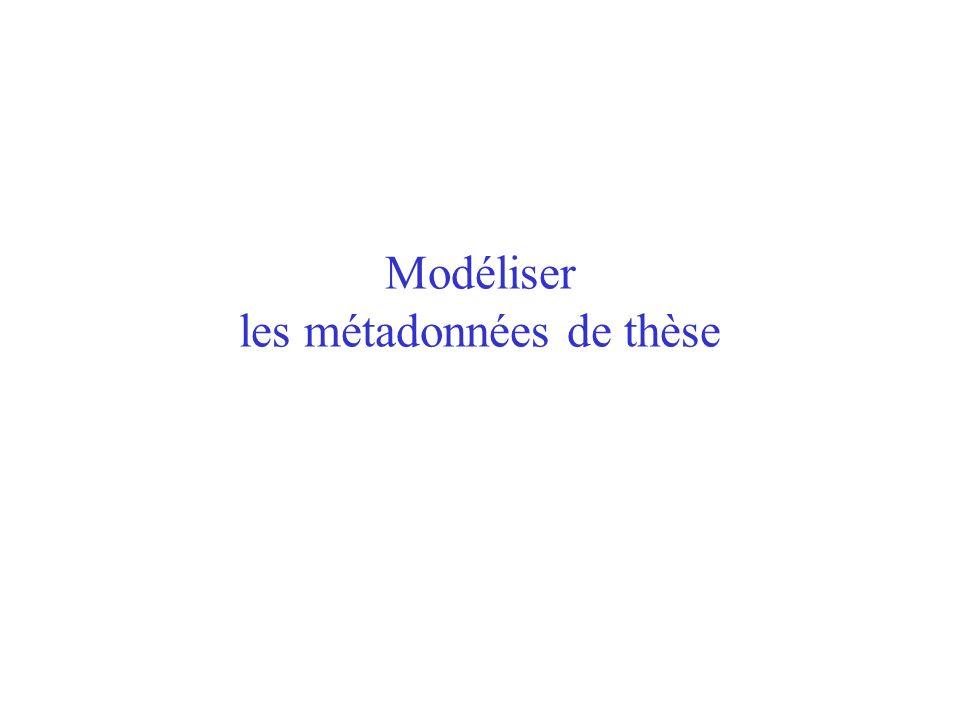 Modéliser les métadonnées de thèse