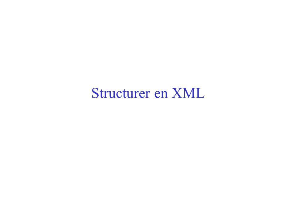 Structurer en XML