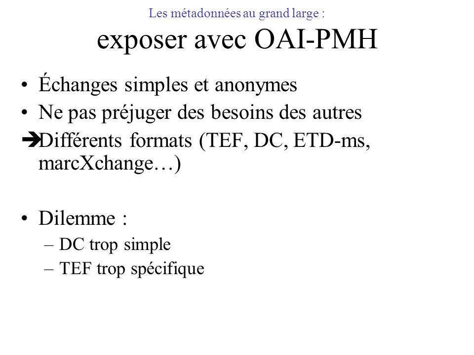 Les métadonnées au grand large : exposer avec OAI-PMH