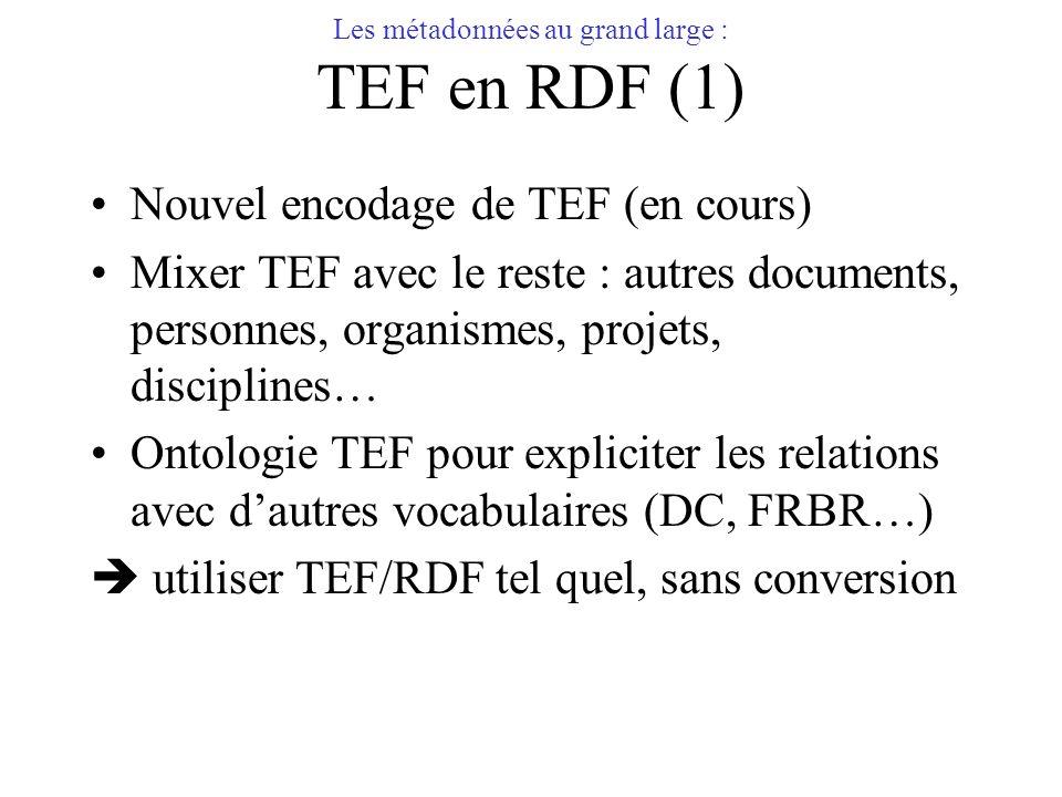 Les métadonnées au grand large : TEF en RDF (1)