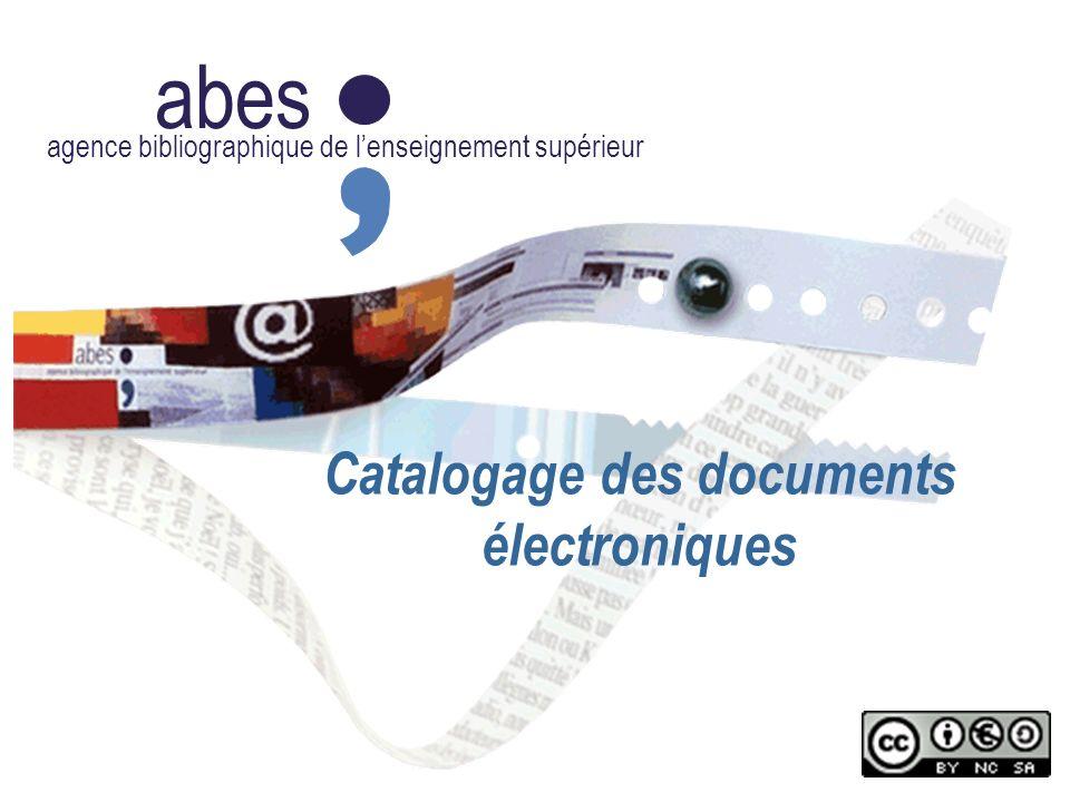 Catalogage des documents électroniques