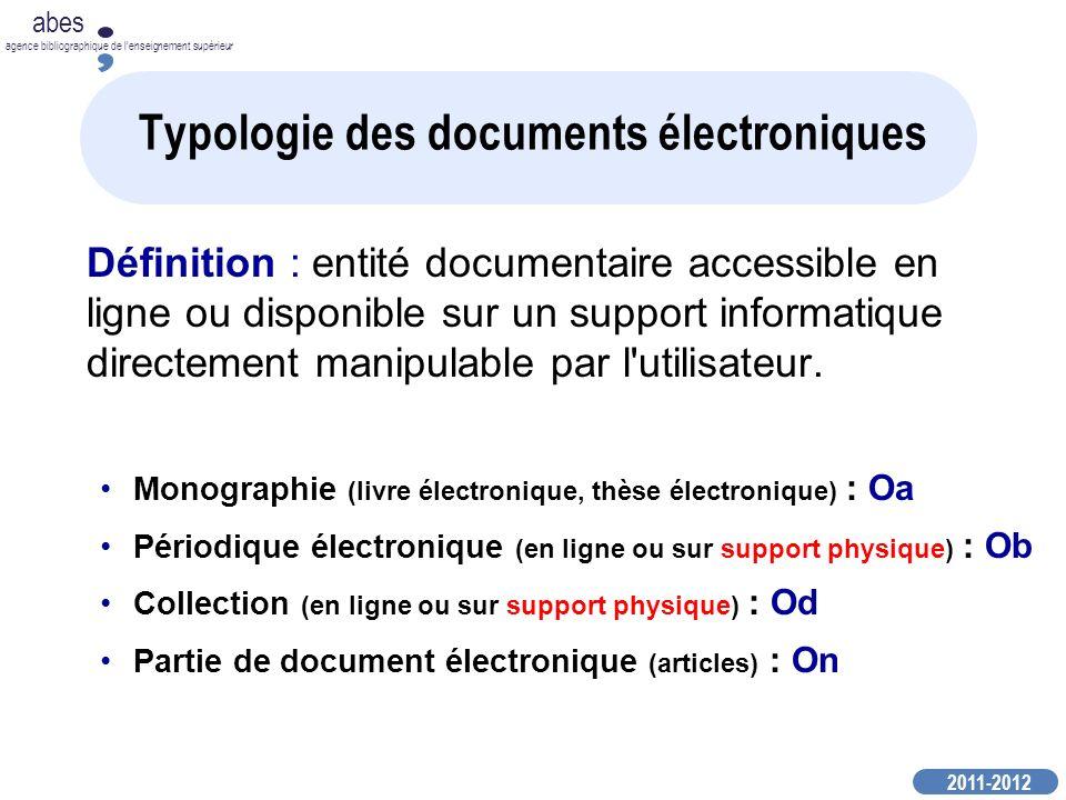 Typologie des documents électroniques