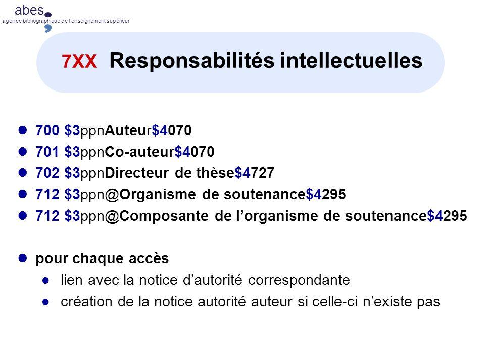 7XX Responsabilités intellectuelles