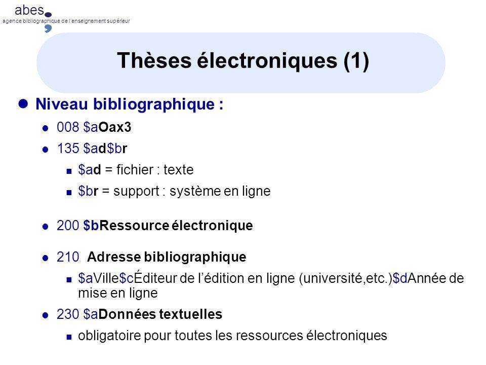 Thèses électroniques (1)
