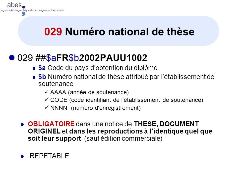 029 Numéro national de thèse