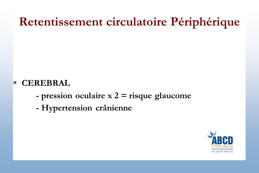 Retentissement circulatoire Périphérique