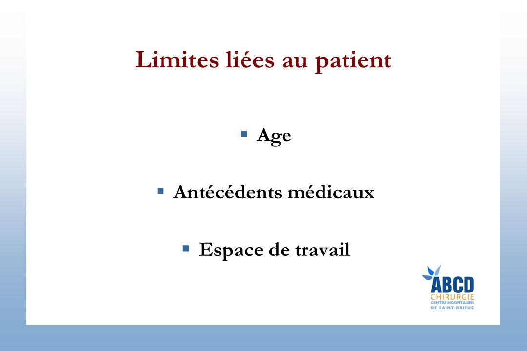 Limites liées au patient