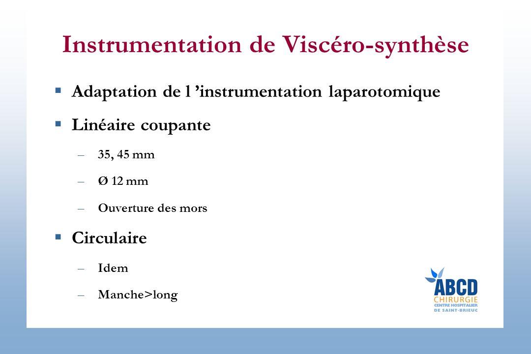 Instrumentation de Viscéro-synthèse