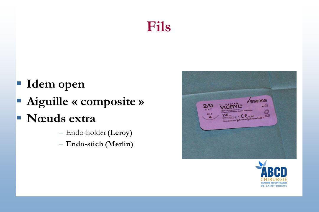Fils Idem open Aiguille « composite » Nœuds extra Endo-holder (Leroy)
