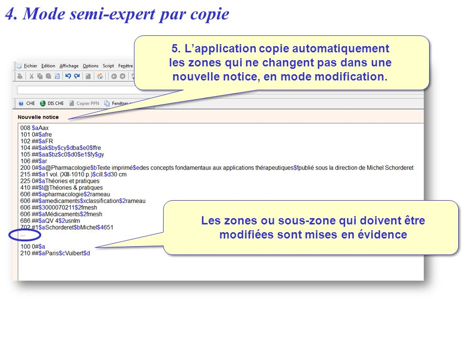 5. L'application copie automatiquement