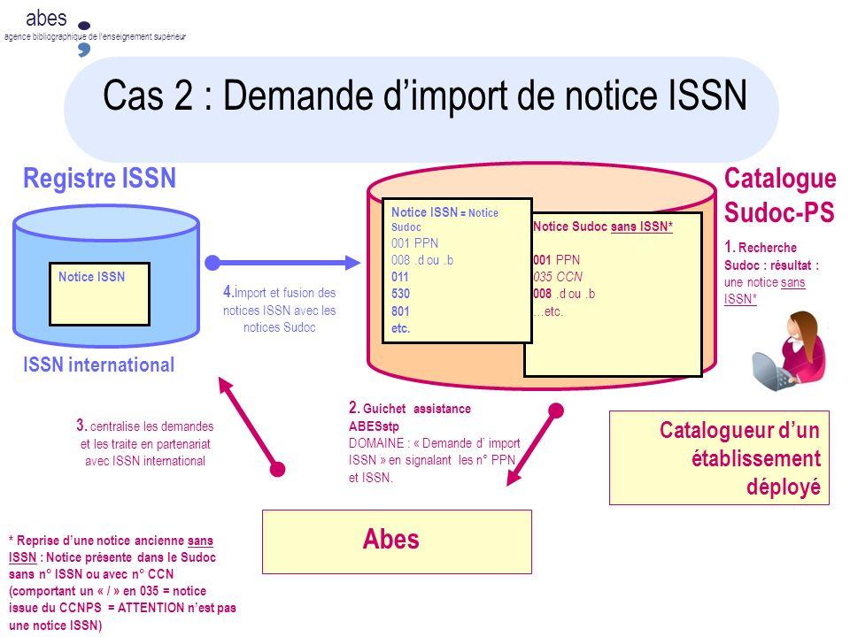 Cas 2 : Demande d'import de notice ISSN