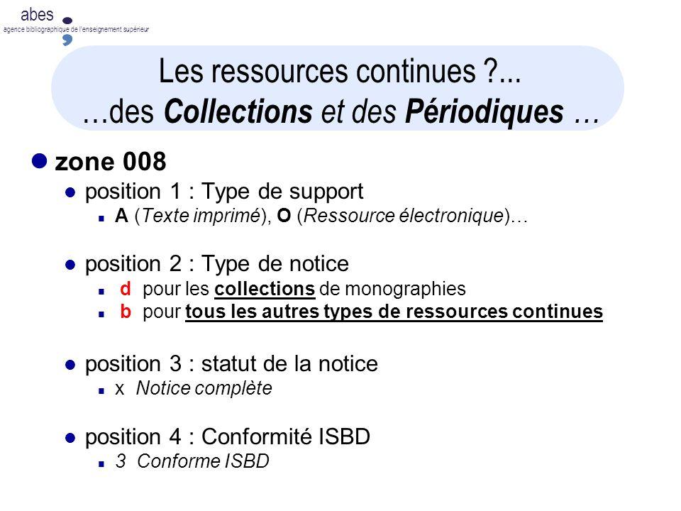 Les ressources continues ... …des Collections et des Périodiques …