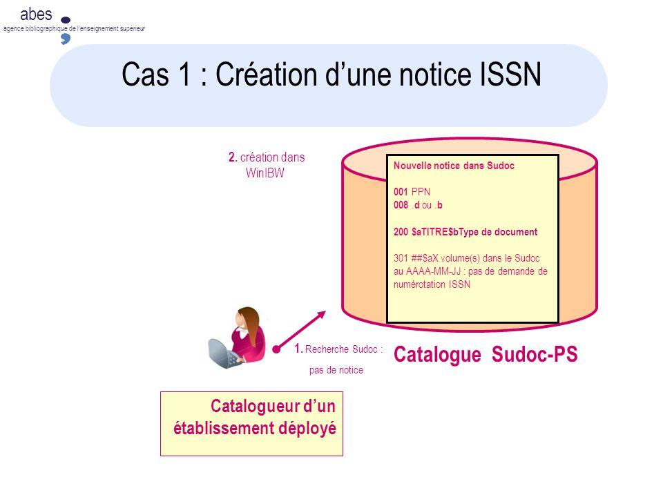 Cas 1 : Création d'une notice ISSN