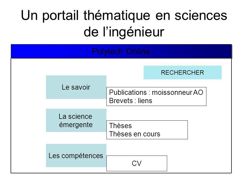 Un portail thématique en sciences de l'ingénieur